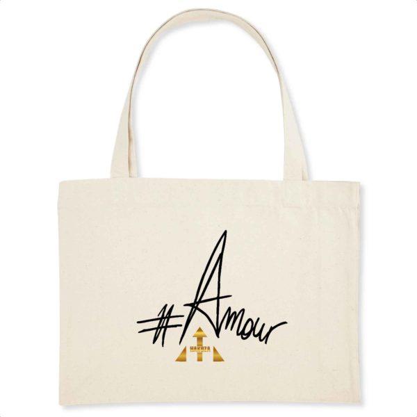 Shopping bag en coton BIO #Amour
