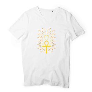 T-shirt Homme Col V - 100 % coton bio #Light